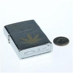 Marijuana Weed NORML Metal Oil Lighter
