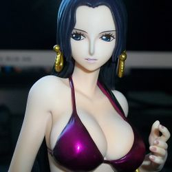 One Piece Otaku Anime Manga Boa Hancock Purple Version PVC Resin Figure