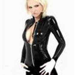 Imitation Leather Catsuit Sleek Slender Sexy Cosplay Lingerie