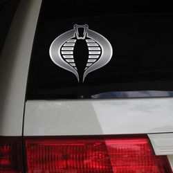 Cobra Cartoon Anime Otaku Manga G.I. Joe Car Decal Sticker Metallic Chrome