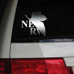NERV Neon Genesis Evangelion Anime Manga Otaku Car Decal Sticker Metallic Chrome