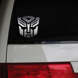 The Transformers Cartoon Anime Otaku Managa Autobot Brand Car Decal Sticker Metallic Chrome