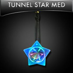 LED Tunnel Star Medallion Pendant Necklace