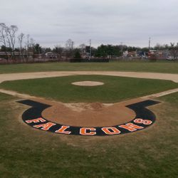 New Turf Halo installed for the 2015.  Donated by the 2014 Seniors and the Pennsbury Baseball Parents' Club,
