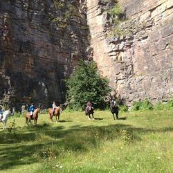 Hack out under Llanymynech rock