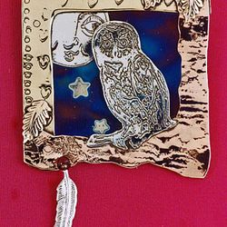 The Old Owl Brooch, by Linda.