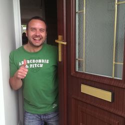 Thumbs up with a whopping saving of £190 on what another locksmith quoted!