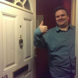 This happy chap gave the thumbs up as he saved over £160 by using Taylors Locksmiths