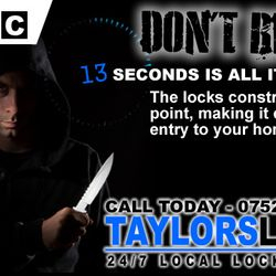 Lock upgrade, stop lock snapping, dont be a victim of burglary. Call today for a no obligation qoute on luck upgrades. 07525639943