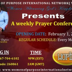 Join our weekly Prayer Conference Call
