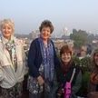 alt= Travel group rooftop restaurant, Agra, India