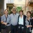 alt= Travel group with Gondalier, venice, Italy
