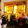 alt= Travel group pre dinner drinks, Rome, Italy
