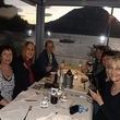 alt= Travel group dinner overlooking Lake Como