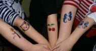 Glitter tattoo's, Face painting, face painter Cornwall, Penzance, Truro, Newquay, Helston