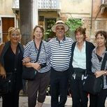 "<img src=""australian womens travel.jpg alt=womens tour group with gondolier in Venice italy"">"