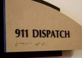 911 Dispatch Floor Sign