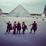 "<img src=""australian womens travel.jpg alt=womens tour group in front of glass pyramis, paris, france"""