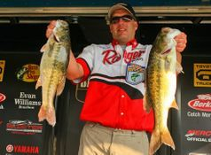 Guntersville Lake Fishing guide Brent Crow weighing in at the Bassmaster Open at Smith Lake
