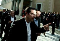 Alexis Tsipras after the Samaras' government' collapse , December 2014