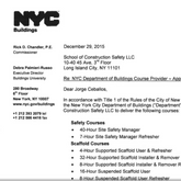 NYC Department of Building - Site Safety Manager
