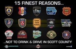 15 reasons to not drive drunk in Scott County Iowa