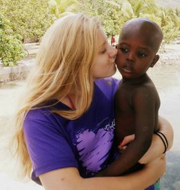 Jessica, our youth leader, visiting Haiti