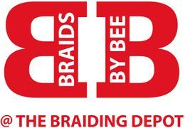 Braids by Bee Logo of Trademarked Services for Braids, Twist and Dreads.
