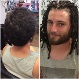 Instant Dreads on Caucasian Hair done in one day