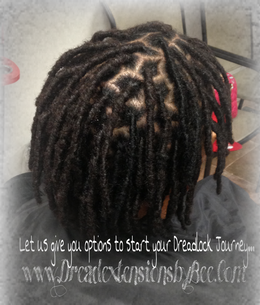 Natural dreads repaired with our dread extensions method.