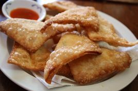 Crab rangoon with cream cheese