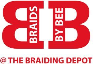 Braids by Bee Logo Trademark services.  Everywhere this logo is found Braids by Bee services has been served.