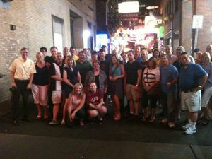 Corporate group on the Music City Pub Crawl