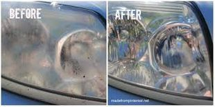 Refinishing head lights