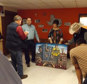 the community gets a look at the painting