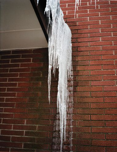 A build up of ice is dangerous to both building and occupants