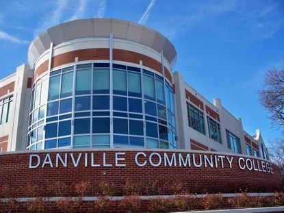 Piedmont Glass commercial installation at Danville Community College