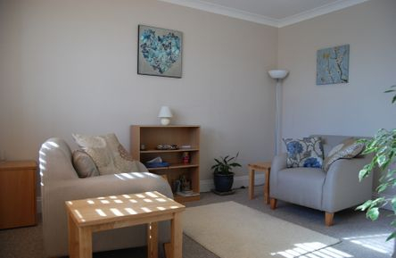 Counselling Room Two at Therapeutic Counselling, Christchurch, Dorset