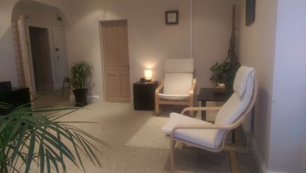Waiting/ Reception area of Therapeutic Counselling, Christchurch, Dorset