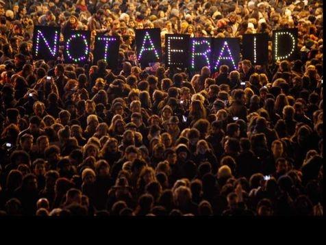 Not afraid , a mass European march against the Fear , Paris, January 2015