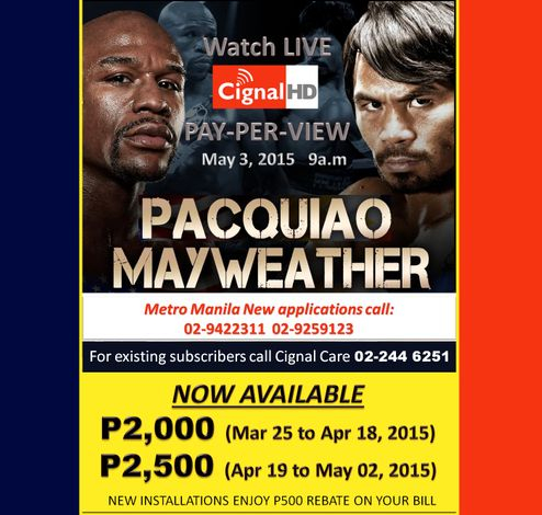For existing subscribers, call 02-244 6251 to avail PPV