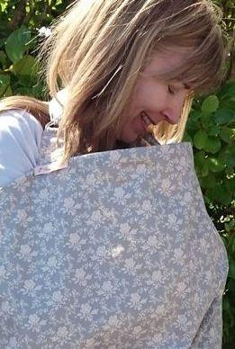 Ellie gray baby nursing cover by littlebuttercups