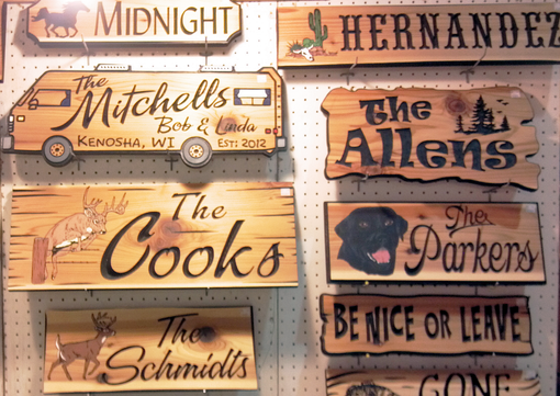 Routered Cedar & Redwood Signs