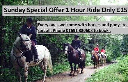 Ride out special Sunday offer