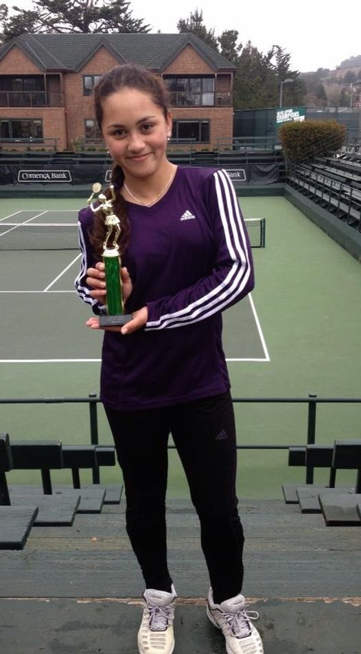 Tameka Samantha, February 16-18 2013, Seascape President's 3-DAY Open Girls 14s Doubles Champion.