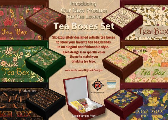 Tea Boxes Set Banner
