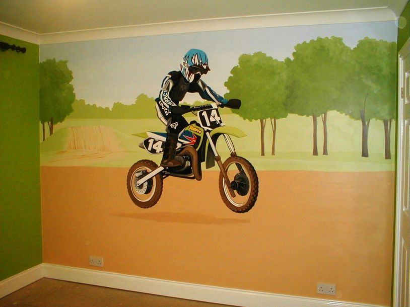 Dirt bike for Dirt bike wall mural